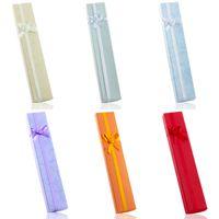부탁 가방 도매 멀티 컬러 하드 ABS 보석 상자, 팔찌 상자, 목걸이 상자 21.5 * 4cm 포장 선물 상자 무료 배송