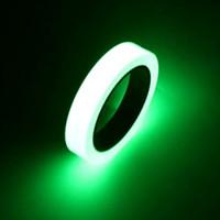 2016 10mm * 10 mt Leuchtbänder grün Glow In Dark selbstklebende Warnbänder Sicherheitsbänder Abnehmbare Wasserdichte band aufkleber