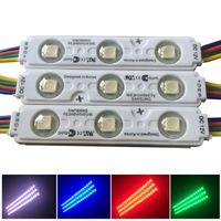 Renkli RGB SMD5050 Led Modül Işık 3LED Lens DC12V ile Siyah RGB Enjeksiyon LED Modülleri Su Geçirmez IP65 Modülü Işık