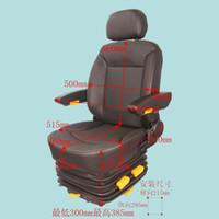 Asiento del conductor, amortiguador de suspensión neumática, reposabrazos doble, ajuste de peso / reposacabezas, ajuste adelante / atrás y arriba / abajo, cubierta de PU