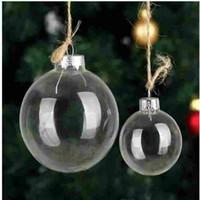 Düğün Bauble Süsler Noel Noel Cam Topları Dekorasyon 80mm Noel Topları Temizle Cam Düğün ballsChristmas Ağacı Cam Topları