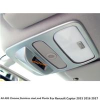 자동차 내부 커버 스틱 ABS 크롬 프런트 헤드 독서 스위치 조명 램프 프레임 트림 1pcs Renault Captur 2015 2016 2017 용