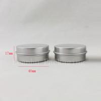 15 그램 알루미늄 빈 화장품 용기 뚜껑 15 미리리터 작은 라운드 립밤 주석 고체 향수 화장품 포장 항아리 샘플 병