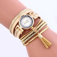 Mode femmes en cuir peau de serpent bandes bracelet montre