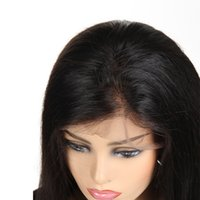Brazilian Virgin Human Hair Lace Front Wigs Straight 10&quot...