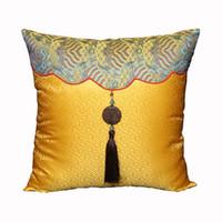 Luxury Patchwork Jade Dekorativa Kudde Skyddar För Soffa Stol Tass Pillow Cover Kinesisk stil Naturlig Mulberry Silk Satin Pillowcase