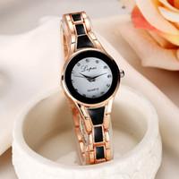 Lvpai femme marque de luxe 2017 женщин браслет часы подарок Женщины золото мода наручные часы женские часы