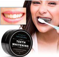 100٪ مسحوق الأسنان الطبيعية الخيزران dentifrice العناية بالفم النظافة تنظيف تنشيط الفحم العضوي جوز الهند شل الغذاء الأسنان الأصفر 30 جرام
