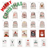 26 Styles 2018 Christmas Gift Bags Large Organic Heavy Canva...