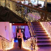 10 x 1M 448 LED Outdoor Tenda String Light Natale Xmas Party Fata Wedding LED Tenda Luce 220 v 110 v US UK AU EU Plug 10 pz / lotto