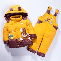 baby boys clothing set thicken down jacket boy romper down j...