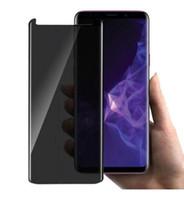 Privacy 3d gebogen gehard glas voor Galaxy S9 S9 Plus Note8 S6 S7 Edge Case Friendly Anti-Spy Full Cover Screen Protector met pakket