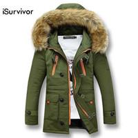 Winter-Männer-Jacken-Art- und Weisemänner Outwears mit Kapuze dicker Parkas  iSurvivor 73ec56eced