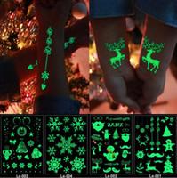 Luminosa Tatuagem Fluorescente No Escuro Glitter Natal Tatuagem Fluorescente Flash Temporária Tatuagens Adesivos Transferência De Água Body Art