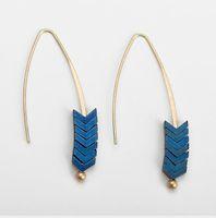Özgün Tasarım Ok Toprak Küpe Avrupa ve Amerikan Küpe Boho Bohemian Uzun Püskül Fringe Dangle Küpe