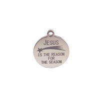 Round Silver Jesus is the reason for the season stainless st...