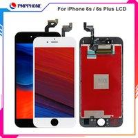 Pantalla LCD blanca negra Pantalla táctil digitalizadora completa con marco Reemplazo de montaje completo para iPhone 6S 4.7 6S Plus 5.5 Envío gratis
