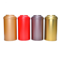Cassa rotonda 18pcs / lot all'ingrosso dell'alimento della scatola di metallo di stoccaggio di Candy di scatola del contenitore di latta del tè di Dia.108X170mm