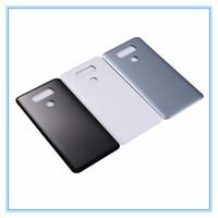 Pour LG G6 H870 H871 H872 H873 LS993 Retour Couvercle de la Batterie Panneau Arrière du Panneau de la Verre avec Adhésif Autocollant Pièces De Rechange