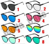 Verão 10 pcs Doces Marca Designer de Olho De Gato Óculos De Sol Das Mulheres de Moda de Plástico Óculos de Sol Clássico Retro Ao Ar Livre De Sol Gafas Oculos De Sol 8 cores