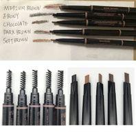 En stock Maquillage à sourcils Crayon 5 Couleur Mode Moyen Brown Ebony chocolat brun foncé brun doux brun brun sourcil skinny sourir paquebonne