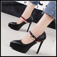 13cm chic buckle platform pumps office lady work shoes women...