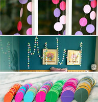 4 meter heart dots paper Flag Party bell garland Decoration ...