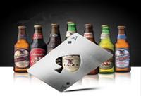 Poker Forma Abridor de Garrafas de Aço Inoxidável Cartão de Jogo Ace Refrigerante Cap Abridor de Cerveja Portátil Bar Ferramentas Criativas