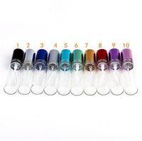 Top vendita MINI 10ml Bottiglie vuote in metallo Profumo di vetro spray riutilizzabile Spray Atomizzatori Bottiglie DHL / EMS / Fedex Spedizione gratuita 10 colori
