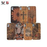 Bezpłatny pakiet DIY Sublimacja Niestandardowe logo Drewniane etui na telefon komórkowy dla iPhone 6 7 8 plus