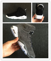 New 6 VI Oreo grey black men basketball shoes sports LOW tra...