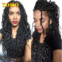 TOMO Soft Faux Locs Curly Crochet Braiding Hair Extensions 1...