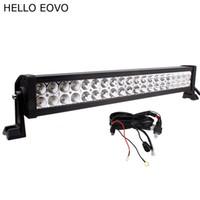 Привет EOVO 22 дюйма 120 Вт светодиодный свет бар + комплект проводов для индикаторов работы вождения внедорожный лодка грузовик 4x4 внедорожник ATV туман комбо