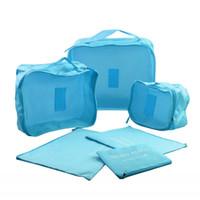 6 шт./компл. Travel Case одежда аккуратные хранения сумка коробка багажа чемодан мешок бюстгальтер косметика нижнее белье водонепроницаемый организатор контейнер