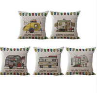 10 style Waist pillow case Happy Campers pillowcover cushion...