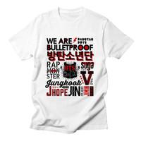 Voltreffer Kpop BTS Camiseta Bangtan Meninos JUNG KOOK JHOIM JIN JIMIN V SUGA  Bts T- 09f26b09cb99a