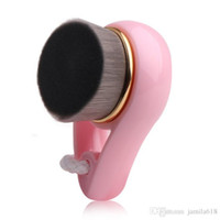 Kunststoffgriff Weiche Gesichtsmild-Faser-Gesichtsreinigungsbürste Poren-Tiefenreinigungsbürste Hautpflege-Naturmassagegerät Bürstenreinigungswerkzeug