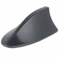 1 ADET Dayanıklı Güzel Karbon Fiber Yüksek Kaliteli ABS Araba Köpekbalığı Fin Çatı Anten Radyo FM AM Araba Styling için Hava Müseit
