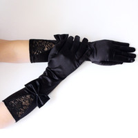 da80b135d Women's Gloves Lace Gothic Prom Gloves Sexy Dance Black for Ladies Satin  Hand Club Party Bride Accessories Festival Gift