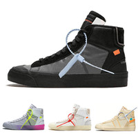 Top Quality off 3 laces Blazer Mid men running shoes All Hal...
