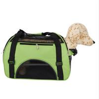 2018 vendita calda Hollow-out portatile traspirante impermeabile Pet borsa M Cane viaggi all'aperto per cani