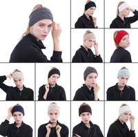 13 цветов вязаные повязки повязки женщин зимние уши повязки вязаные вязаные тюрбаны Headwrap вязание крючком оголовье аксессуары для волос CCA10381 100 шт.