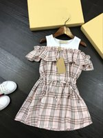 new retro Cute Summer Kids Baby Girls Plaids Ruffles Dress P...