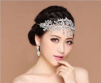 Ücretsiz Shpping Bling Düğün Jewelrys Aksesuarları Gelin Tiaras Hairgrips Kristal Rhinestone Headpieces Kadınlar Alın Saç Taçlar Bantlar