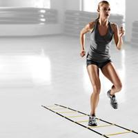 Yeni Açık Fitness Ekipmanları 10 Rung 15 Ayaklar için 5 M Çeviklik Merdiven Hız Futbol Futbol Spor Ayak Eğitim Çantası ile