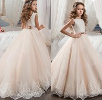 Flower Girl Dresses for Wedding Blush Pink Princess Tutu Seq...