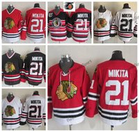 baabd8bf Mens Vintage Stan Mikita Chicago Blackhawks Hockey Jerseys Cheap Home Red  Classic White 21 Stan Mikita Stitched Shirts