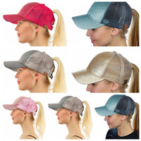 Glitter cc Ponytail hat Women Ponytail Baseball Cap Shiny Me...