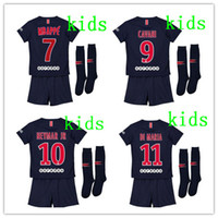 2018 2019 Paris kids kit soccer Jerseys 18 19 mbappe home VE...