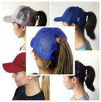 13 couleurs Ponytail Ball Cap Messy Buns Trucker Ponycaps Plaine Baseball Visor Cap Papa Chapeau Queue De Cheval Snapbacks mk293